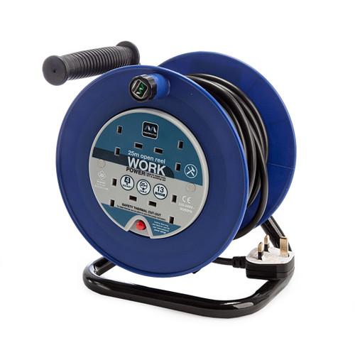 Masterplug LDCC2513-4BL-MP 13A 4 Gang Open Reel Blue 25 Metres 240V 1