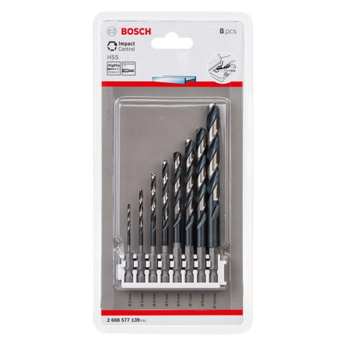 Bosch 2608577139 HSS Impact Drill Bit Set (8 Piece) 1