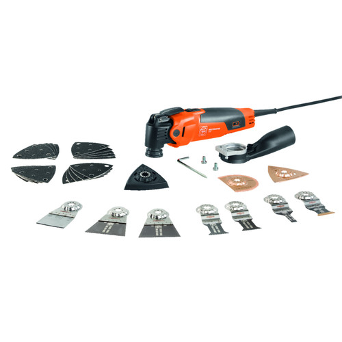 Fein 72296761240 Multimaster MM 500 Plus Top Oscillating Multi Tool with 30+ Accessories 240V 1