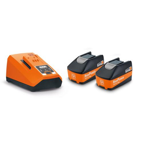 Fein 92604321010 18V High Power Battery and Charger Starter Set (2 x 5.2Ah Batteries) 1