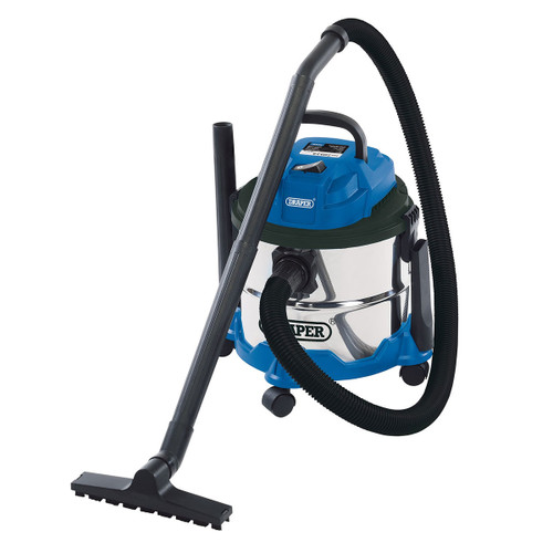 Draper 20514 Wet & Dry Vacuum with Stainless Steel Tank 15L