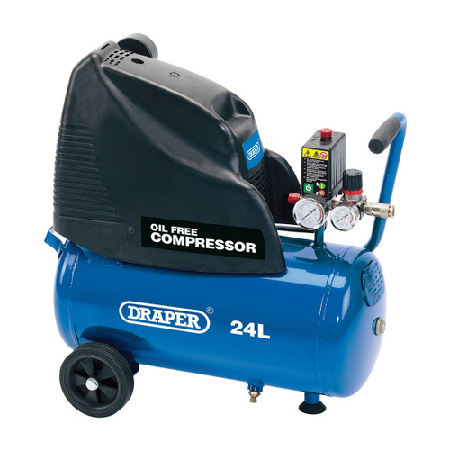 Draper 24978 Oil Free Air Compressor 24L (1.1kW)