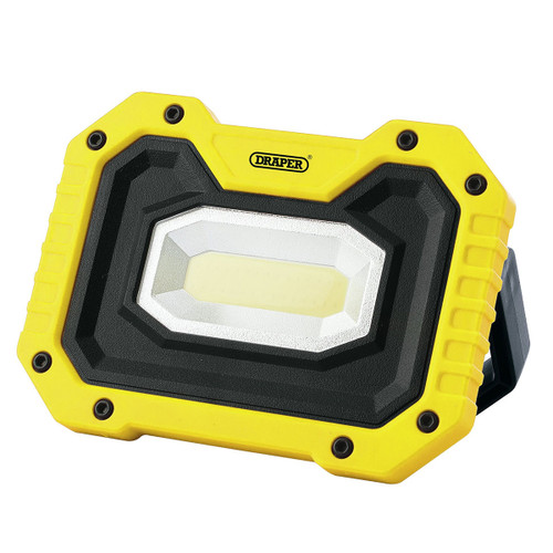 Draper 90004 COB LED Rechargeable Work Light with Wireless Speaker (Yellow)