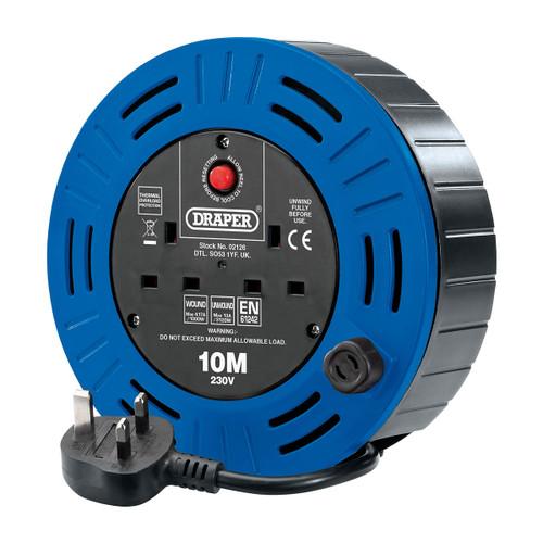 Draper 02126 Twin Socket Cable Reel 10m (240V)