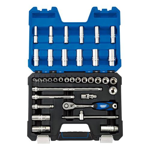 """Draper 16449 Metric Socket Set 3/8"""" Square Drive"""