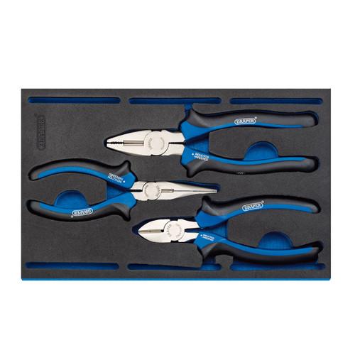 Draper 63301 Plier Set in 1/4 Drawer EVA Insert Tray