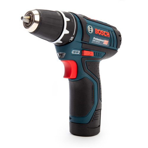 Bosch GSR 12V-15 Professional Drill Driver in Case (2 x 2.0Ah Batteries)