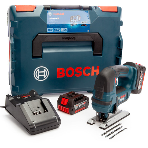 Bosch GST 18 V-LI B Professional Bow Handled Jigsaw (2 x 4.0Ah Batteries) 2
