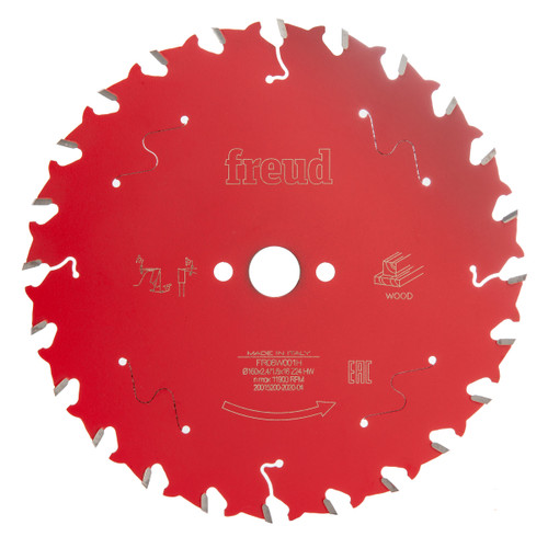 Freud F03FS09673 Circular Saw Blade for Wood 160mm x 1.6 x 16 x 24T (FR06W001H)