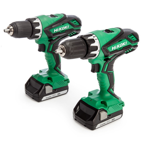 HiKOKI KC18DGLJBZ 18V Combi Drill & Drill Driver Twin Pack (2 x 1.5Ah Batteries)