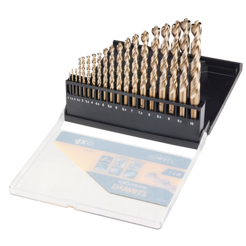 Dewalt DT5936 Cobalt Metal Drill Bit Set 1mm - 10mm (19 Piece)