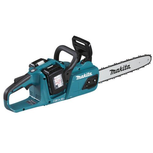 Makita DUC355PT2 36V LTX Chainsaw 350mm (2 x 5.0Ah Batteries) Accepts 2 x 18V Batteries