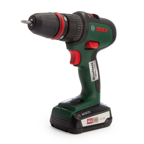 Bosch AdvancedImpact 18 18V Combi Drill with 3 Adaptors (2 x 2.5Ah Batteries)