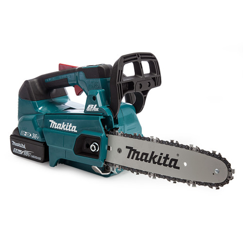 Makita DUC256PT2 36V Top Handle Chainsaw 250mm (2 x 5.0Ah Batteries) 1