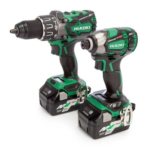 HiKOKI KC36DPL2JAZ 36V Multi-Volt Combi Drill & Impact Driver Twin Pack (2 x Multi-Volt Batteries)