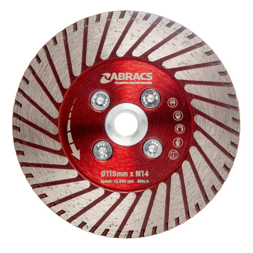 Abracs DCG115 Cut & Grind Diamond Blade 115mm x M14