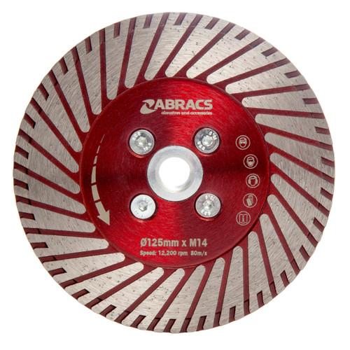 Abracs DCG125 Cut & Grind Diamond Blade 125mm x M14
