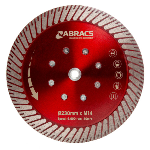 Abracs DCG230 Cut & Grind Diamond Blade 230mm x M14