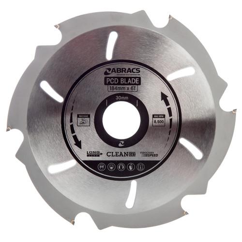 Abracs PCD1846 PDC Circular Saw Blade for Fibre Cement Board 184mm x 30mm x 6T