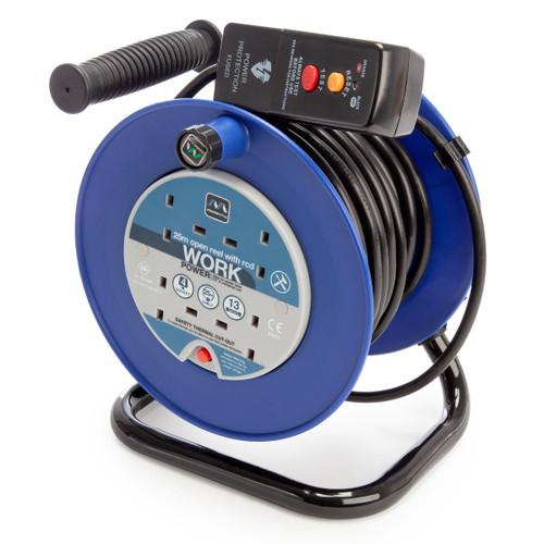 Masterplug LDCC2513-4BLRCD-MP 13A 4 Gang Open Reel Blue 25 Metres 240V
