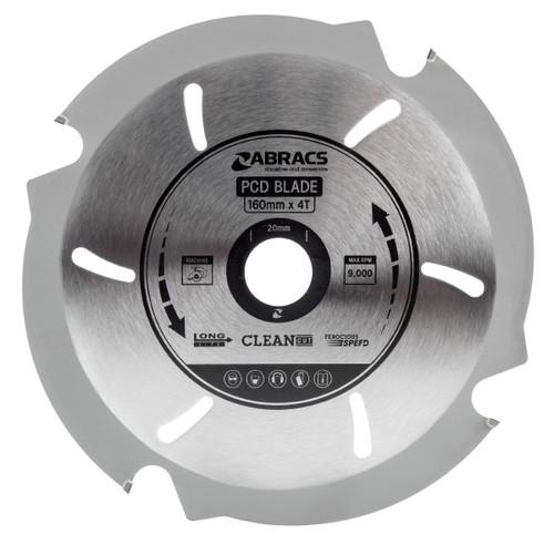 Abracs PCD1604 PDC Circular Saw Blade for Fibre Cement Board 160mm x 20mm x 4T