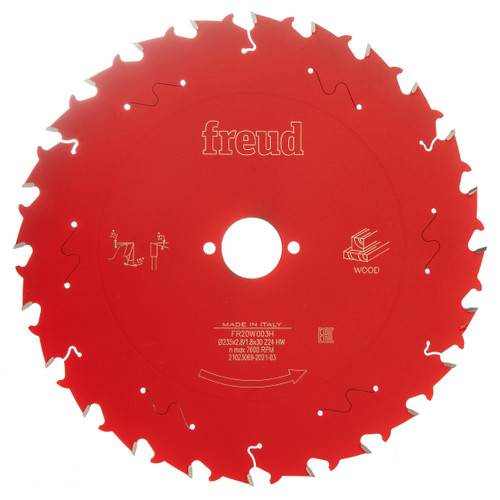 Freud F03FS09733 Circular Saw Blade for Wood 235mm x 30 x 2.8 x 24T (FR20W003H)