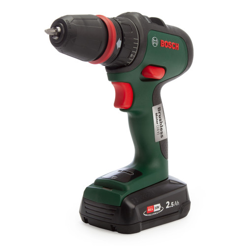 Bosch AdvancedDrill 18 18V Drill Driver with 3 Adaptors (2x 2.5Ah Batteries)