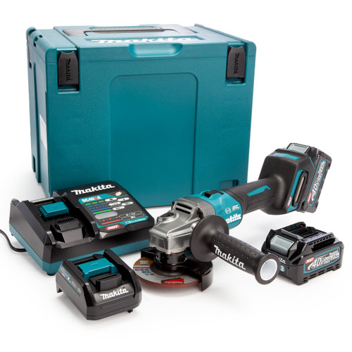 Makita GA004GD202 40Vmax XGT 4.5 inch/115mm Angle Grinder in MakPac Case (2 x 2.5Ah Batteries) 2
