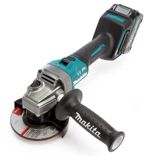 Makita GA004GD202 40Vmax XGT 4.5 inch/115mm Angle Grinder in MakPac Case (2 x 2.5Ah Batteries)