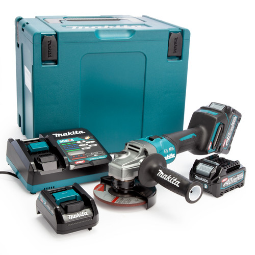 Makita GA005GD202 40Vmax XGT 5 inch/125mm Angle Grinder in MakPac Case (2 x 2.5Ah Batteries) 2