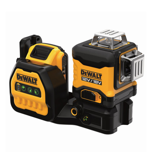 Dewalt DCE089D1G18 12V/18V XR Green Cross Line Laser 3 x 360 Degrees