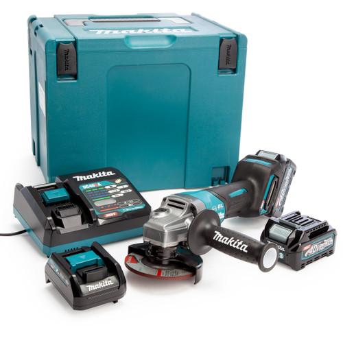Makita GA012GD202 40Vmax XGT 4.5 inch/115mm Angle Grinder in MakPac Case (2 x 2.5Ah Batteries) 2
