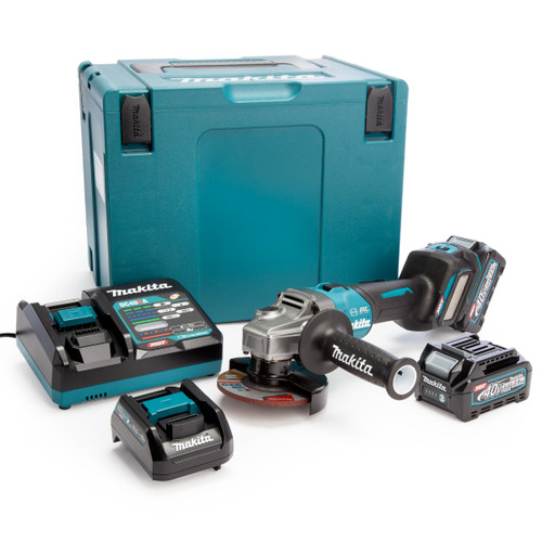 Makita GA022GD202 40Vmax XGT 4.5 inch/115mm Angle Grinder (2 x 2.5Ah Batteries) 2