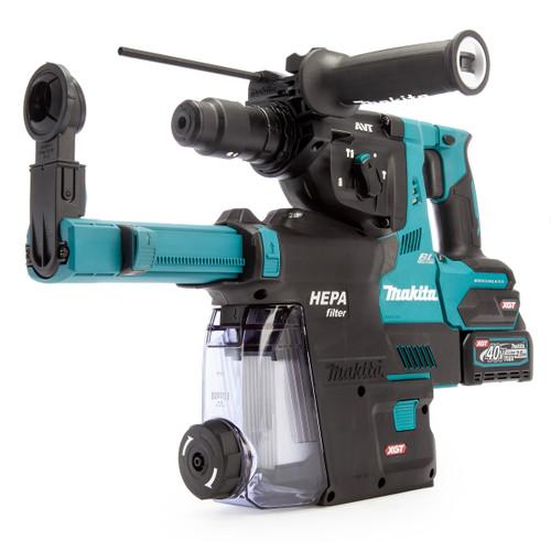 Makita HR004GD204 40Vmax XGT SDS Plus Rotary Hammer Drill (2 x 2.5Ah Batteries)