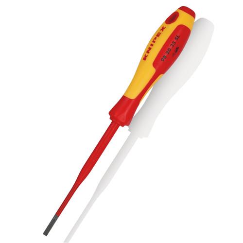 Knipex 982035SL Slim Slotted Screwdriver VDE 1000V 202mm