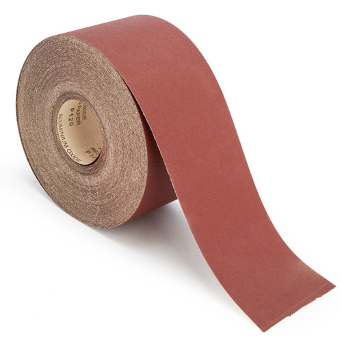 Abracs ABS11550120 Sandpaper Roll 120 Grit 115mm x 50 Metres