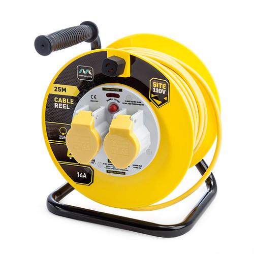 Masterplug LVCT2516-2-MP 16Amp 2 Gang Cable Reel 25m 110V 1