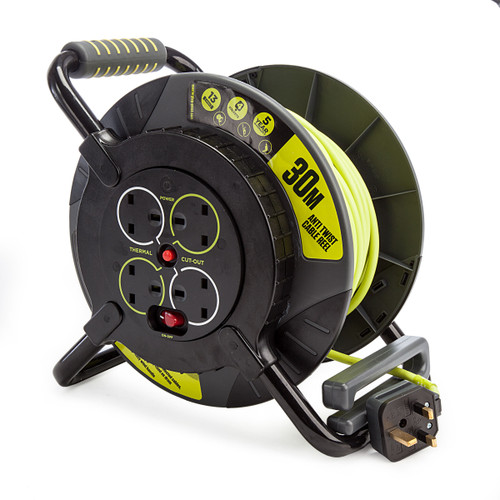 Masterplug OATFU30134SL-PX 4 Gang Anti-Twist Cable Reel 30m 240V 1
