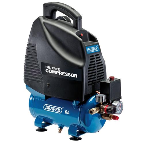 Draper 24974 Oil-Free Air Compressor 6L 1.1Kw