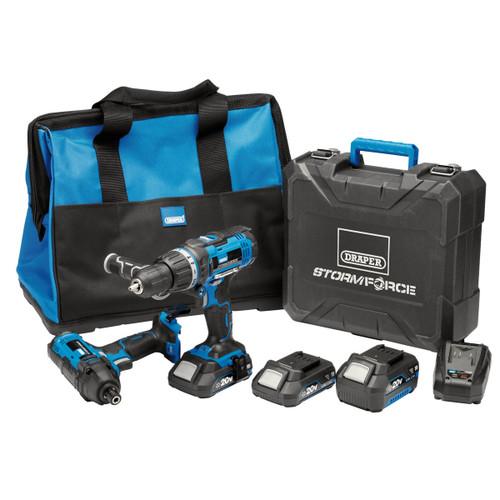 Draper 40448 Storm Force 20V Combi Drill & Impact Driver Twin Pack (2 x 2.0Ah & 1 x 4.0Ah Batteries) 3