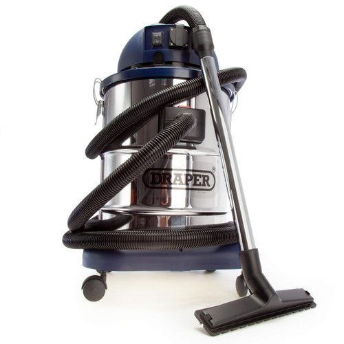 Draper 48499 Wet & Dry Vacuum Cleaner With Stainless Steel Tank 50L 240V