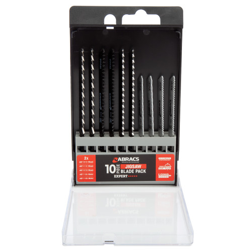 Abracs ABTMIX101 Expert Jigsaw Blade Set for Wood & Metal (10 Piece)