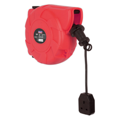Sealey CRM101 Retracting Cable Reel 10 Metres 240V