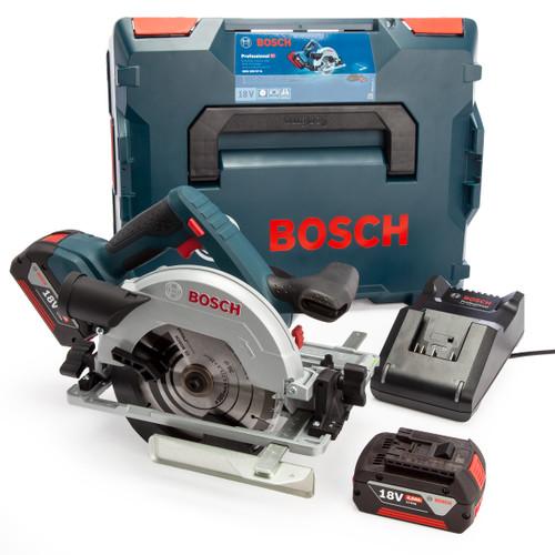 Bosch GKS 18V-57 G 165mm Circular Saw (2 x 4.0Ah Batteries) 2