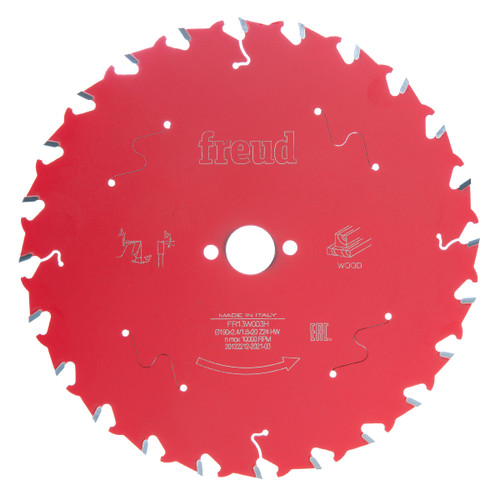 Freud FR13W003H Circular Saw Blade for Wood 190 x 20mm x 24T