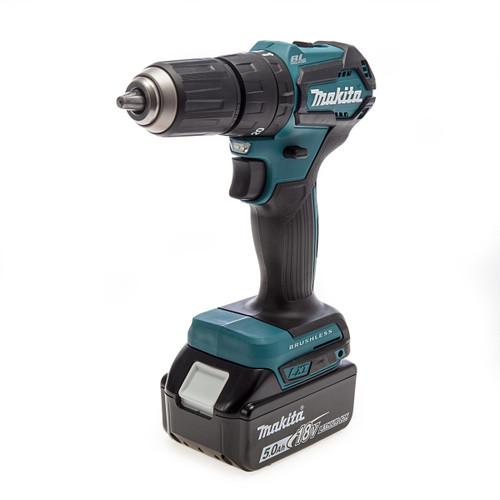 Makita DHP483RTJ 18V LXT Brushless Combi Drill (2 x 5.0Ah Batteries) 1