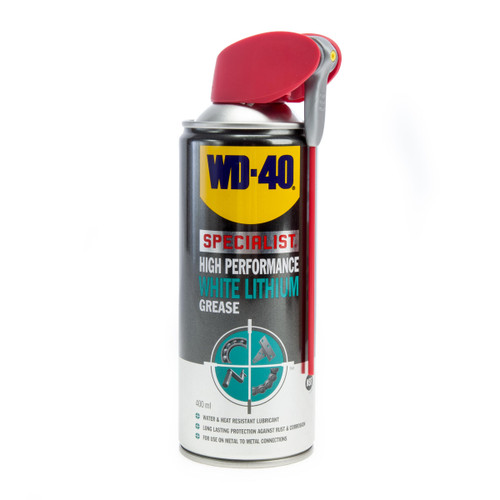 WD40 Specialist High Performance White Lithium Grease (44391/44) 400ml (Pack Of 12) 1