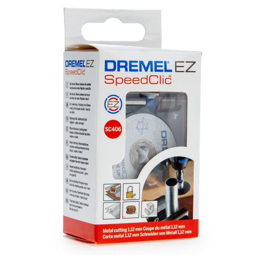 Dremel 2615S406JC (SC406) EZ SpeedClic Starter Set Metal Cutting Wheel 38mm (Pack Of 2)