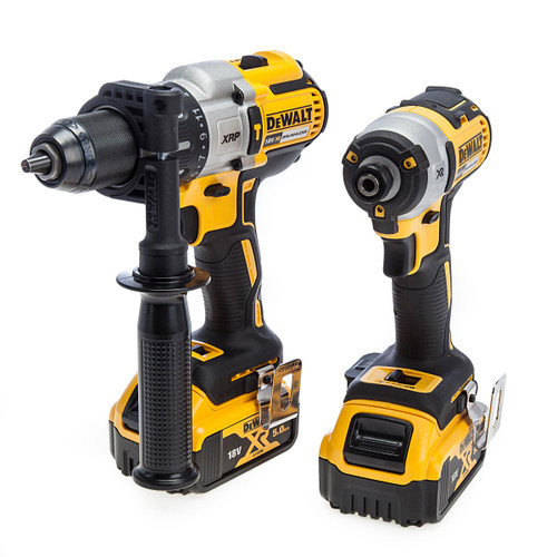 Dewalt 18V XR Combi Drill & Impact Driver Twin Pack (2 x 5.0Ah Batteries) 1