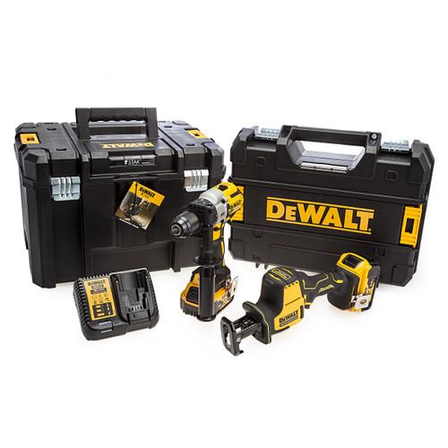 Dewalt 18V XR Combi Drill & Reciprocating Saw Twin Pack (2 x 5.0Ah Batteries) 4